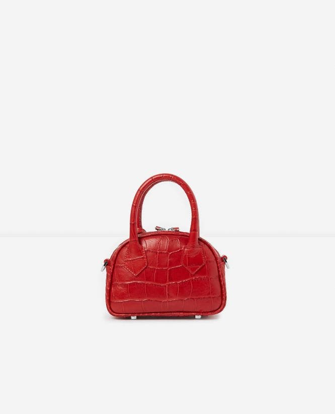 Sac medium Irina by The Kooples croco rouge