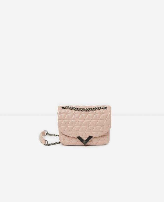Mini-Handtasche Stella by The Kooples aus rosafarbenem Leder