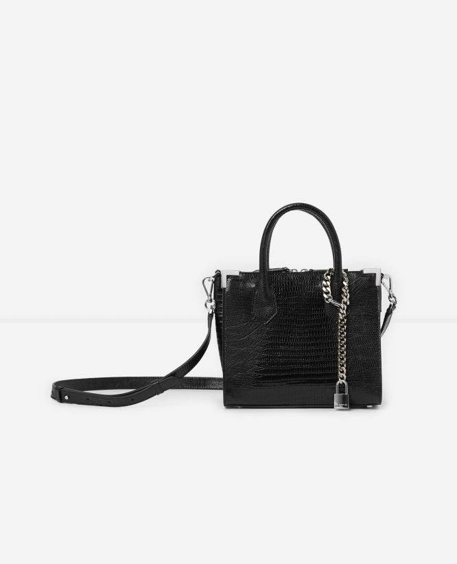 Medium Ming black handbag with shoulder strap