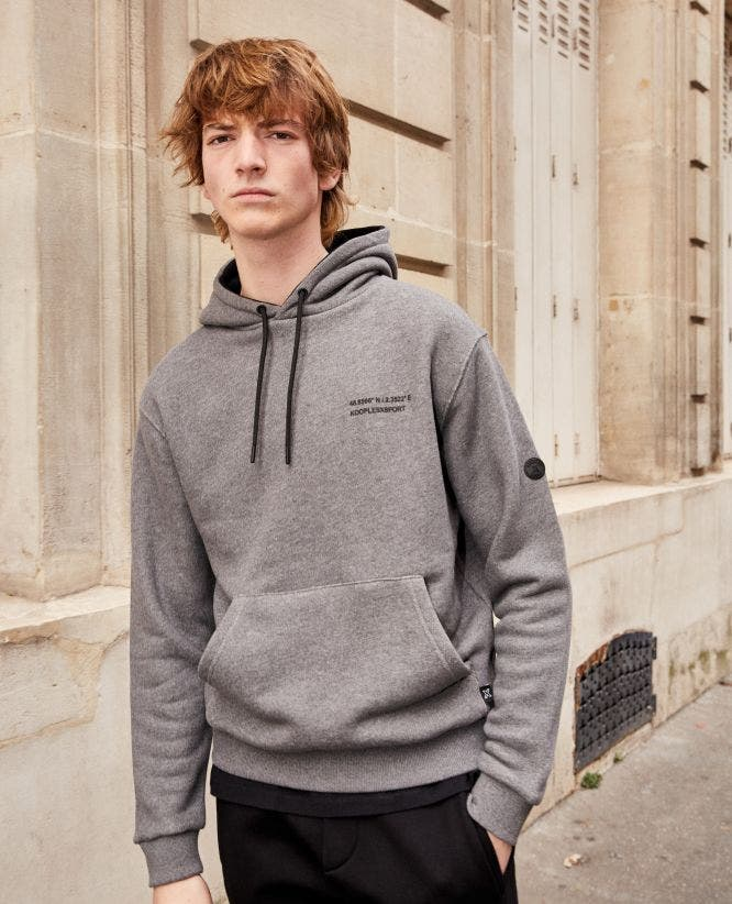 Light grey sweatshirt in cotton