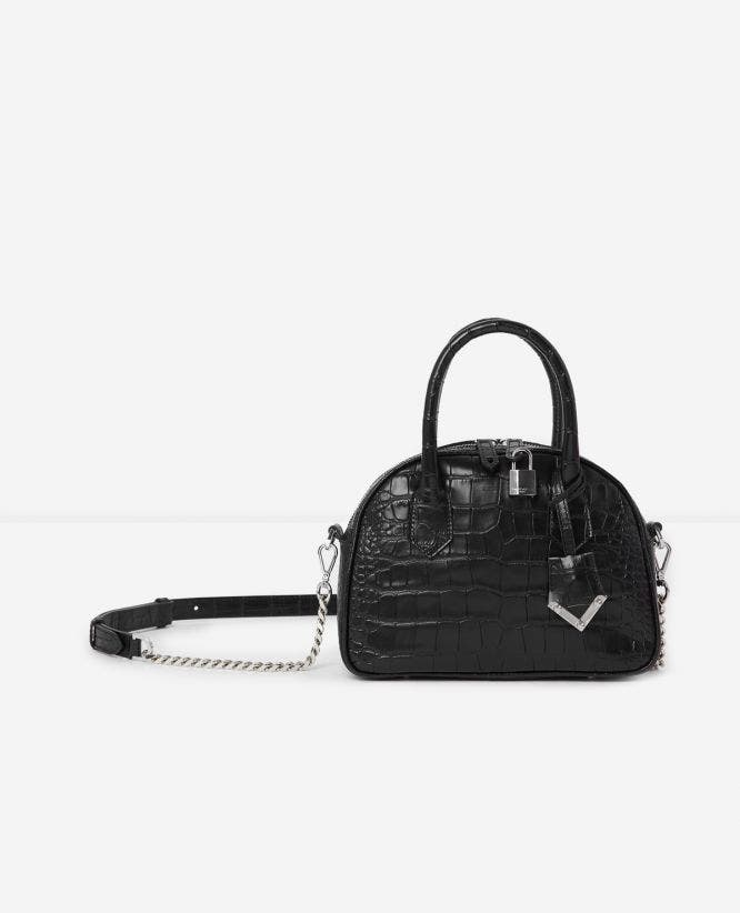 Sac medium Irina by The Kooples croco noir