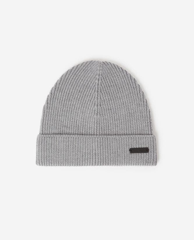 Braided wool gray beanie
