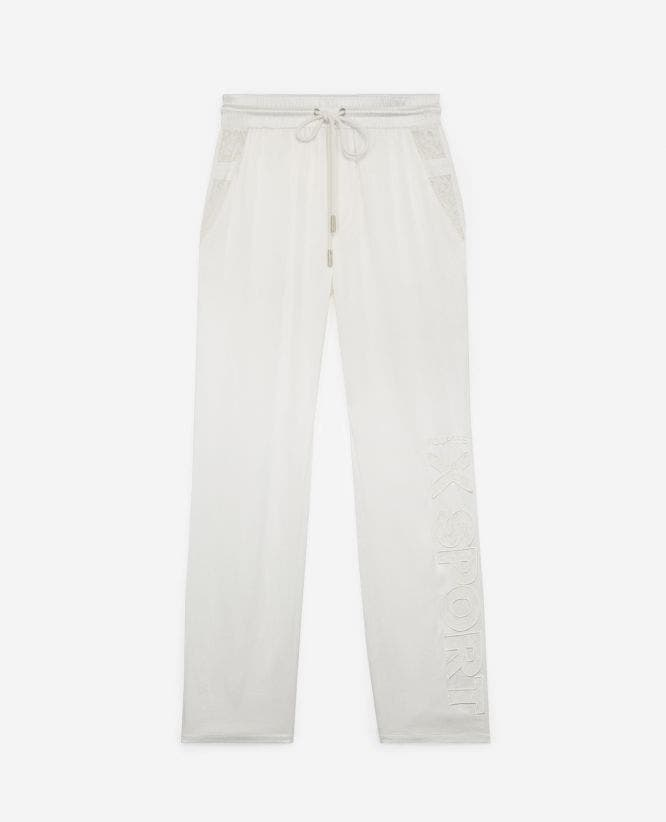 Pantalon fluide blanc finition dentelle