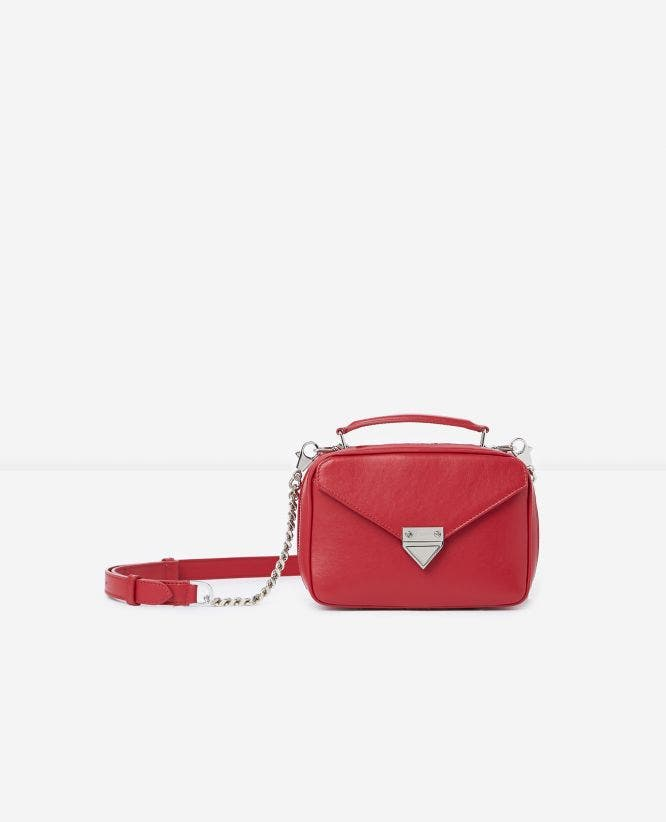 Mini red Barbara bag in smooth leather