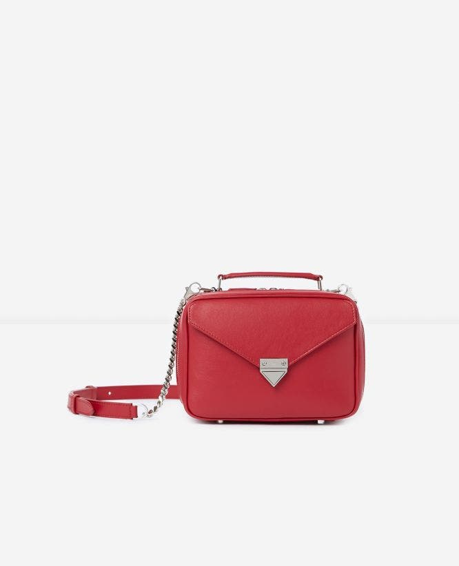 Sac Barbara medium rouge cuir lisse