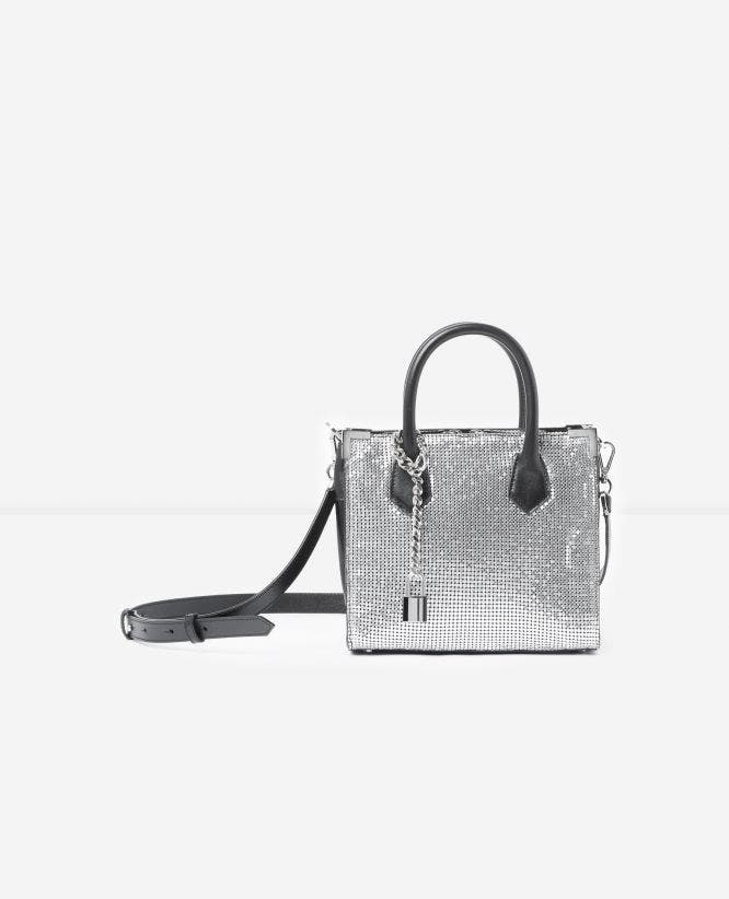 Medium Ming bag with silver chain mail