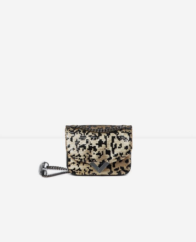 Mini leopard leather Stella bag by The Kooples