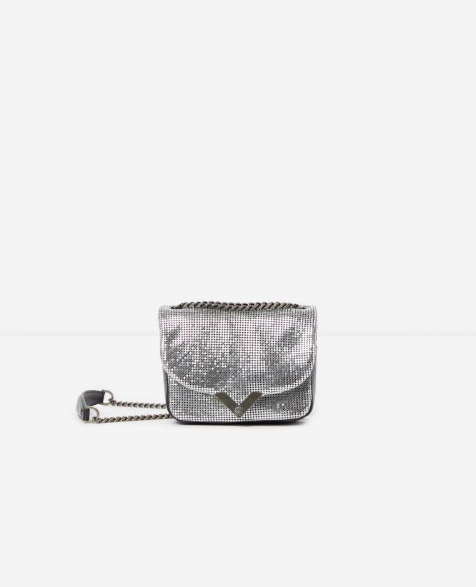 Mini chain mail Stella bag with sequins by The Kooples