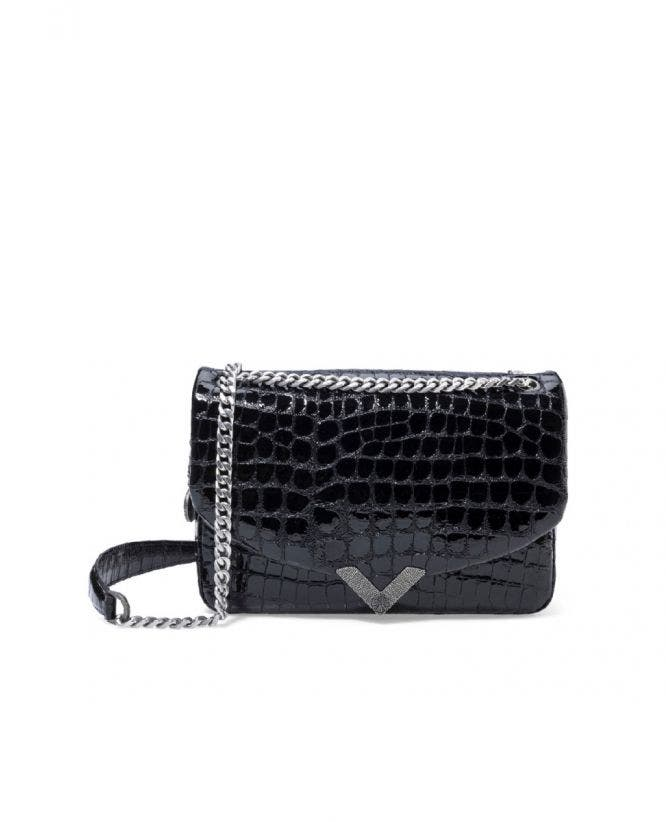 Medium Stella black crocodile handbag