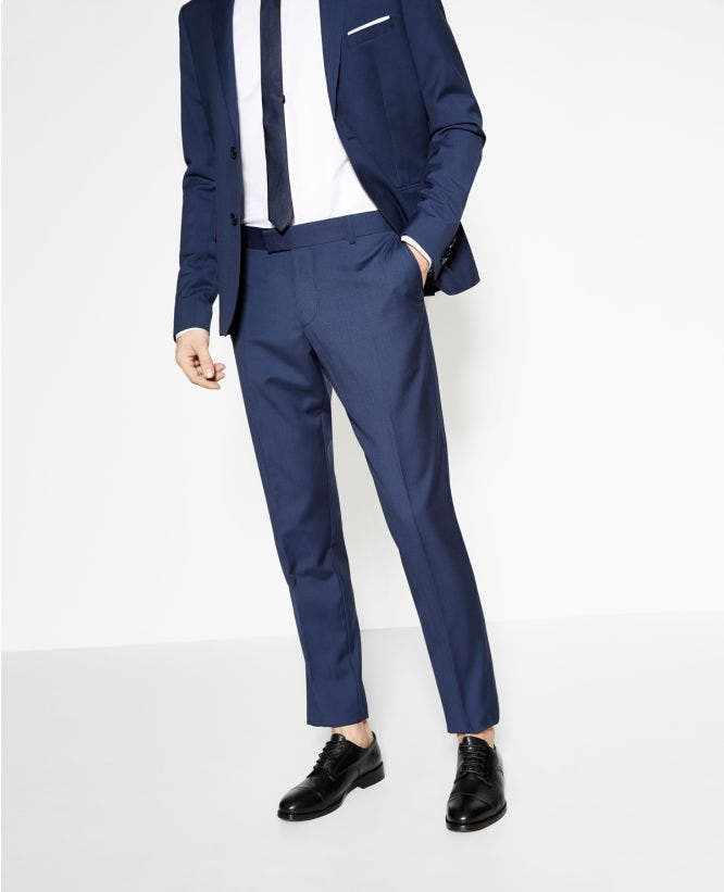더 쿠플스 The Kooples Pantalon de costume homme bleu vif en laine